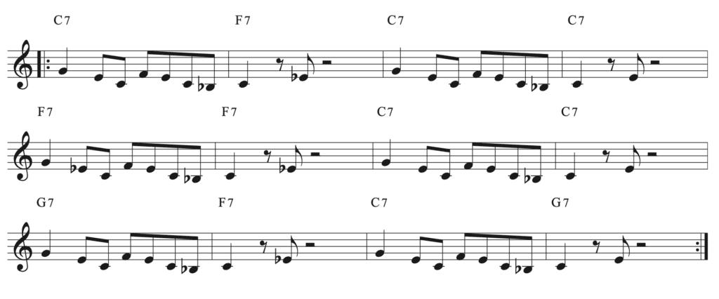 Exemple de composition blues riff