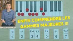 Trouver la gamme majeure au piano et comprendre son utilité